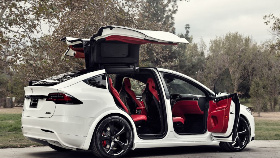 Tesla's Model X DeLorean door